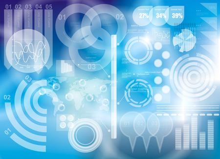 tecnologia virtual: Fondo moderno tecnolog�a virtual Vectores