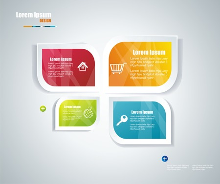 Moderne tekstballon template stijl Kan gebruikt worden voor workflow layout, diagram, het aantal opties, opvoeren opties, webdesign, banner sjabloon, infographic