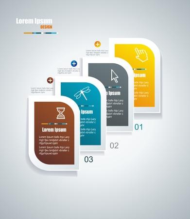 Moderne Sprechblase Template-Stil kann für die Workflow-Layout verwendet werden, Diagramm, Anzahl Optionen, step up Optionen, Web-Design, Banner-Vorlage, Infografik Standard-Bild - 22441721