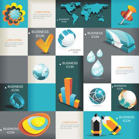 Business Icons Set Vektor-Illustration, Grafik Design Editable Für Ihr Design Standard-Bild - 22441729