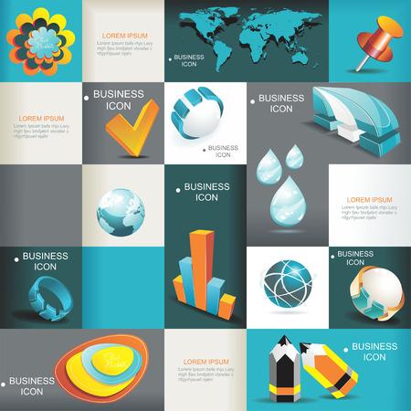 training: Zakelijke Icons Set Vector Illustratie, Grafisch ontwerp Editable voor uw ontwerp Stock Illustratie