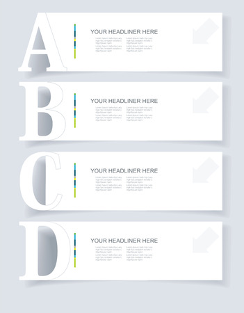 Abstract infographics. Option Banners Set  illustration. Can be used for workflow layout, diagram, business step options,  web design etc. Vector
