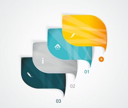 最新のスピーチ泡テンプレート スタイル。ステップ アップ オプション、web デザイン、バナー テンプレート、インフォ グラフィック、ワークフロ  イラスト・ベクター素材