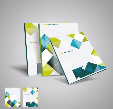 パンフレットのテンプレート デザイン キューブと矢印の要素をベクトルします。EPS 10  イラスト・ベクター素材