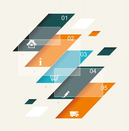 econimics: Modern step origami style options banner. Can be used for workflow layout, diagram or infographic, number options, step up options, web template.  Illustration