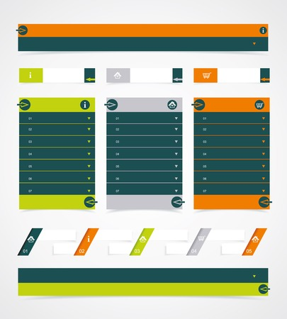 Web site design element. Website Web Design Frame Vector. Vector