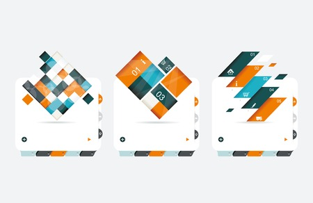 Abstract vector banners set  Vector