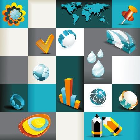 planning diagram: Business Icons Set . Vector Illustration, Graphic Design Editable For Your Design.  Illustration