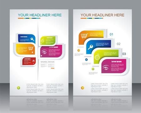 brochure template design met abstracte elementen. Stock Illustratie