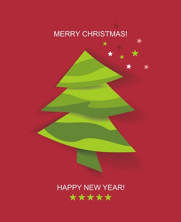christmastree: Christmas tree applique vector background