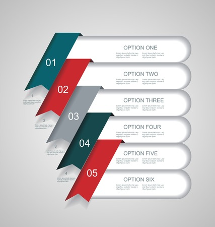 Vector  steps lines, progress banners with colorful tags. Vector