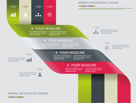 Modern spiral infographics options banner. Can be used for diagram, number options, steps banners, workflow layout, web design.  Vector