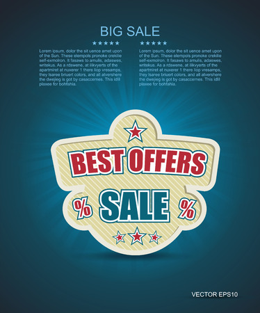 best ad: Vector emlbem for best offer. With place for text.  Illustration
