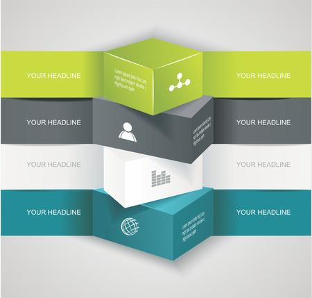 Moderne opties banner, kan gebruikt worden voor workflow opmaak, infographics, aantal llines, webdesign. Stock Illustratie