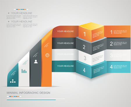 3d manager: Modern options banner,can be used for workflow layout, infographics, number llines, web design.