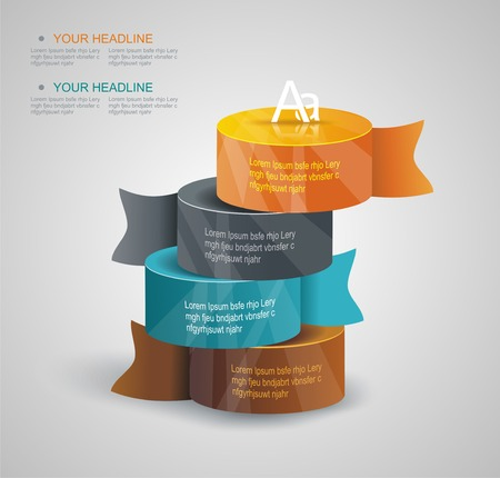 Vector pillars with your indicators, business infographics template. Illustration