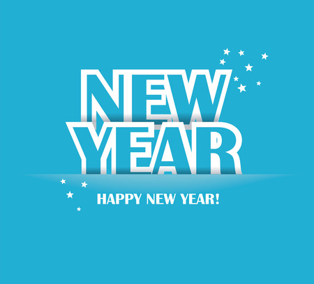 Paper Folding with Letter, Happy New Year Vector