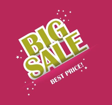 Big sale text with copy space, vector  Vector