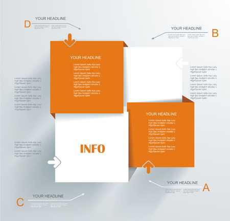 Modern Design template. Can be used for infographics, numbered banners, info panels, step lines.