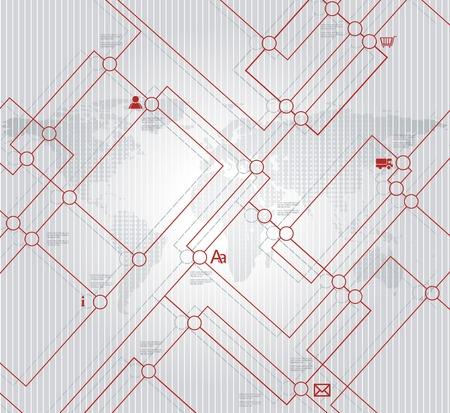 Abstracte stad, kaart, illustratie of metro regeling achtergrond