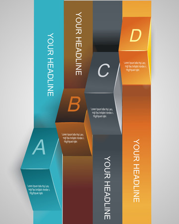 Step by step infographics illustration. levels of your data  Vector