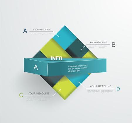 Abstract modern frame voor zakelijke futuristisch design. Stock Illustratie