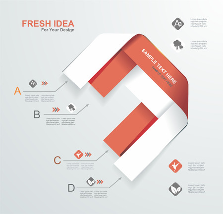Minimal infographics design. Vector illustration. Vector