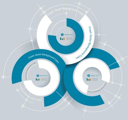 Business-Kreisdiagramm für Dokumente und Berichte für Dokumente, Berichte, Grafik, Infografik, Businessplan, Bildung Illustration