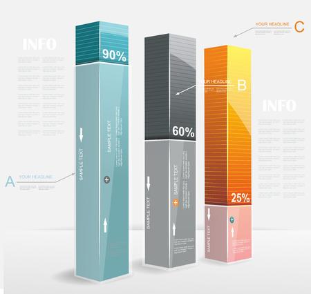 Abstrakt Minimal Ifographic Design kann für Infografiken, nummeriert Optionen, Schritte zum Erfolg, Website-Layout verwendet werden