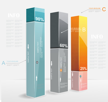 Astratto Minimal Ifographic Design può essere utilizzato per infografica, opzioni numerate, passi verso il successo, layout del sito