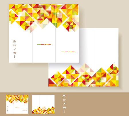 Vector brochure template design  Vector
