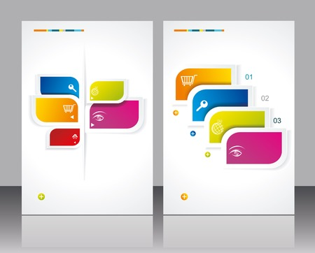 Vector brochure template design with abstract elements  Vector