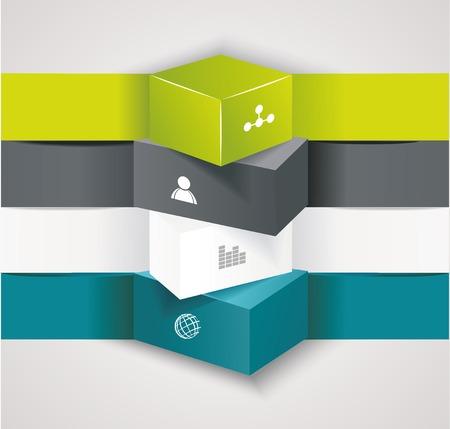 Moderne Möglichkeiten Banner, kann für die Workflow-Layout, Infografiken, Anzahl llines, Web-Design verwendet werden.