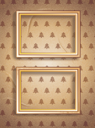 Vector Vintage Merry Christmas Frames. Easy to edit. Perfect for invitations or announcements.  Vector