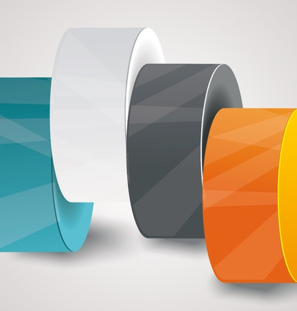 simplistic icon: Vector pillars with your indicators, business infographics template.  Illustration