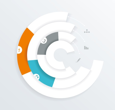Infographics circle origami style, can be used for workflow layout, option or step  banner, diagram, number lines, web design.  Vector