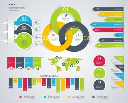 モダンなインフォ グラフィック ダイアグラムとタイムラインのデザイン ベクトルを設定