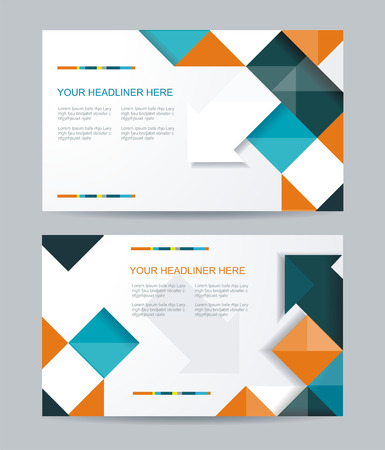 brochure layout: template design with cubes and arrows elements. Brochure or banners or business card design.