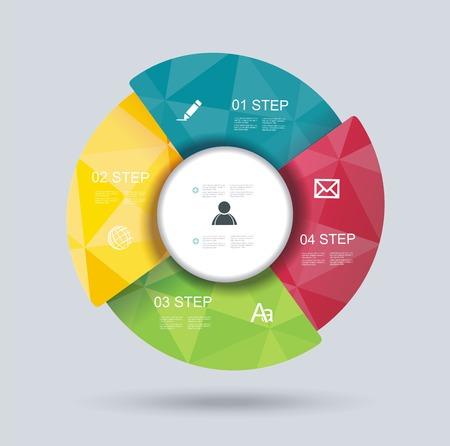 プレゼンテーション、セミナー、広告のための 3 d 設計インフォ グラフィック  イラスト・ベクター素材