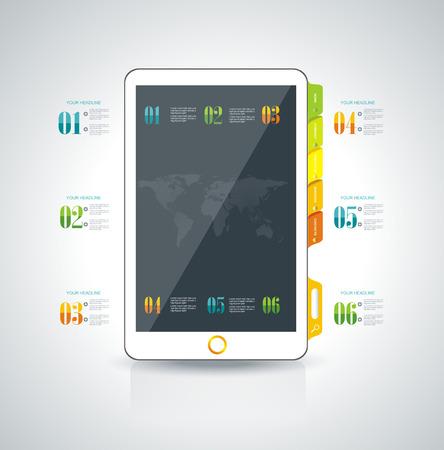 website design: Website design template elements: Smart phone and icons set