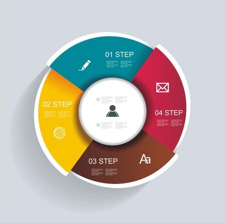 3d design infographics for presentations, seminars, advertising Ilustração