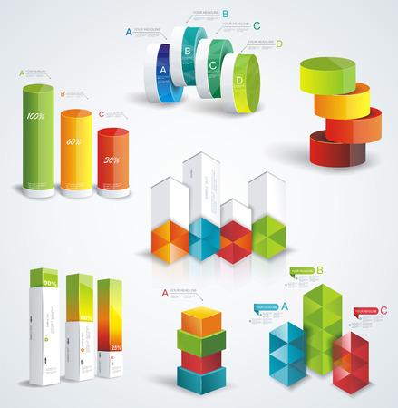 Rijke set Infographic Design. Kan gebruikt worden voor workflow-out; diagram; aantal opties; opvoeren opties; webdesign; bannermalplaatje; infographic, tijdlijn.