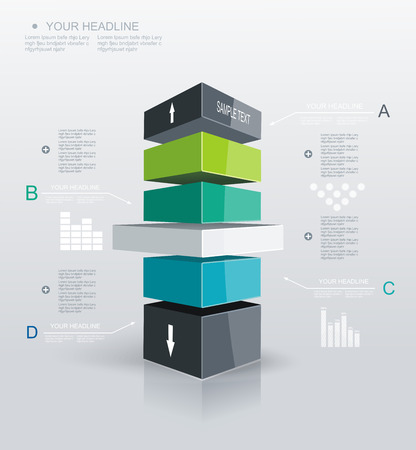 Modern Design template Infographic. Can be used for workflow layout; diagram; number options; step up options; web design; banner template; infographic, timeline.  Vector