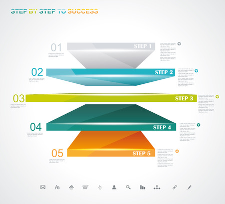 Modern Design template. Can be used for workflow layout; diagram; number options; step up options; web design; banner template; infographic. Stock Vector - 27002819