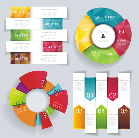 Modern business Infographics and banners. Can be used for step banner, diagram, number options, web design.