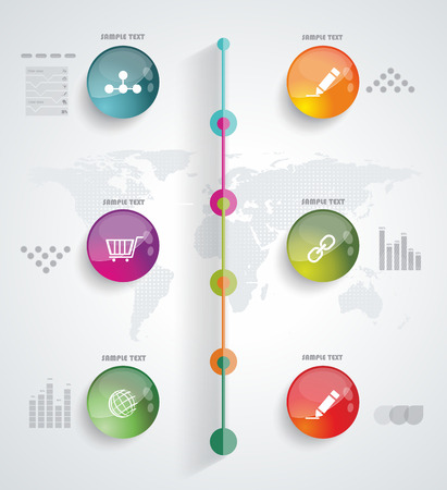 Timeline Infographic. Vector design template.  Vector