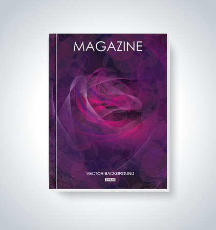 Vector Fashion brochure, flyer, magazine cover Vector