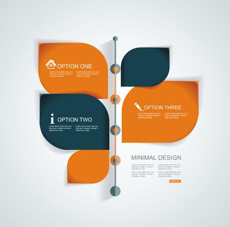 Time Line modèle de conception avec des étiquettes en papier. Idée pour afficher des informations, étapes pour l'usine industrielle, Classement et statistiques.