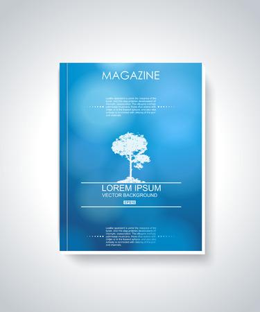 presentation folder: Magazine cover layout design vector  Illustration