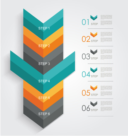 Minimal infographics or Step banners template in Arrow style. Vector. Vector